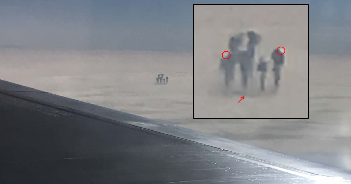 Pasajero fotografía 4 extrañas figuras sobre las nubes en vuelo de Varsovia a Londres