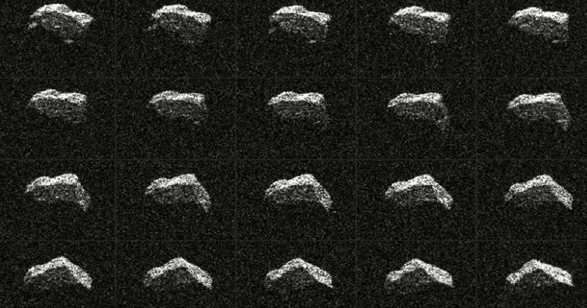 NASA publica primeras fotografías de un asteroide que pasó cerca de la Tierra