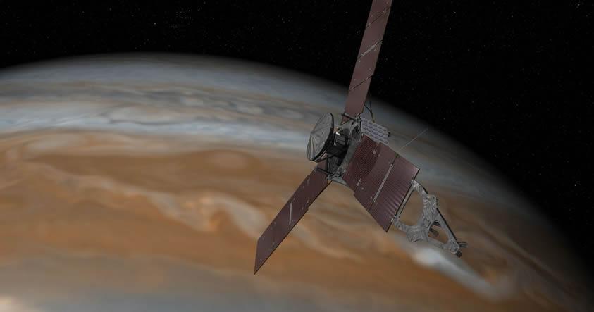 Nave espacial Juno completa su cuarto sobrevuelo en Júpiter