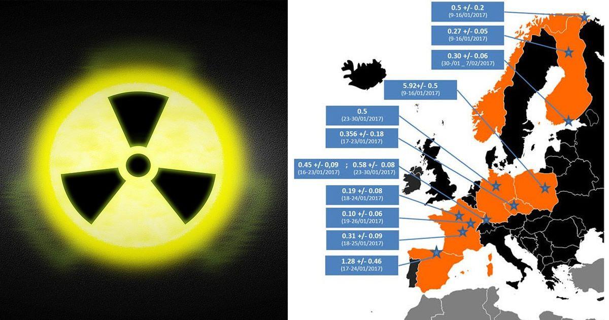 Misteriosas cantidades de radiación han aparecido en toda Europa, y nadie puede explicarlo