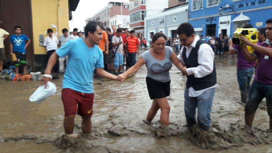 Fuertes lluvias afectaron la región La Libertad (Trujillo) en Perú.