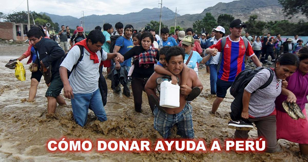 Lluvias en Perú: ¿Cómo donar desde el extranjero?
