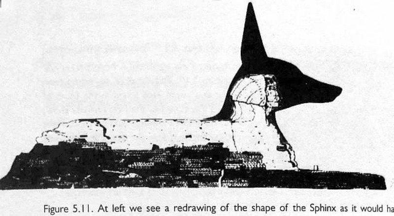 Otra posibilidad: la esfinge como posible representación del dios-chacal egipcio Anubis