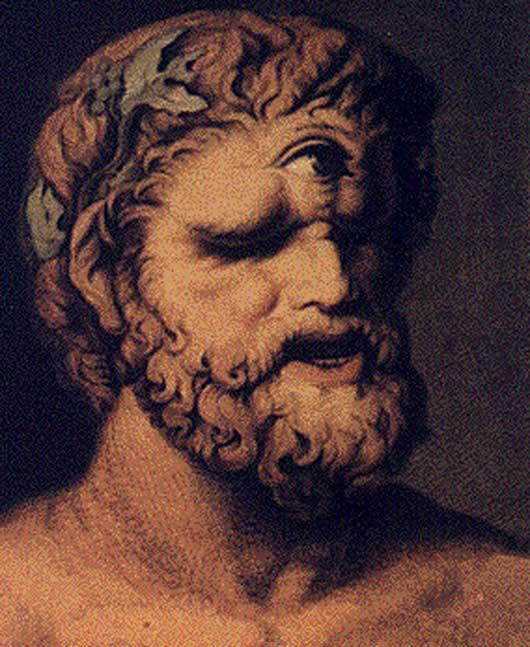 Polifemo, de Johann Tischbein. (1802). Polifemo es uno de los pocos cíclopes cuyo nombre conocemos.