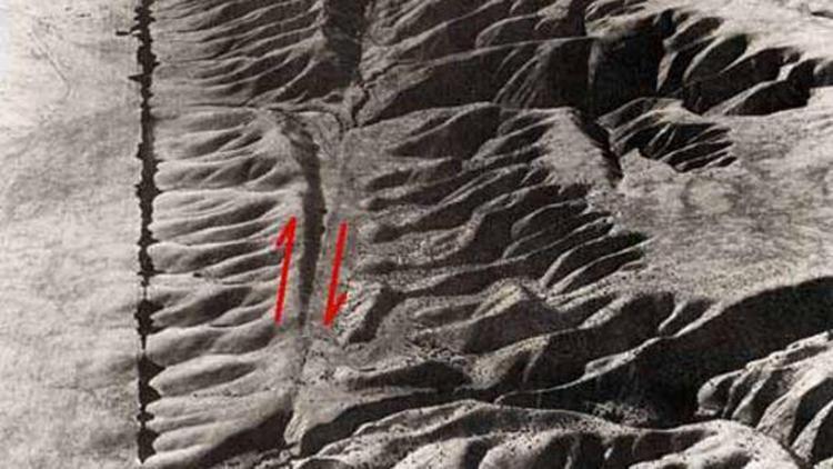 Imagen que muestra la falla de San Andrés (USGS)