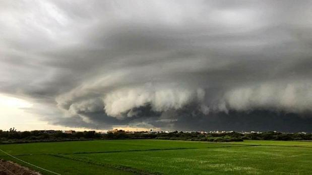 Así se vio la gigantesca nube que causó alarma entre los pobladores de Chiclayo (Perú).