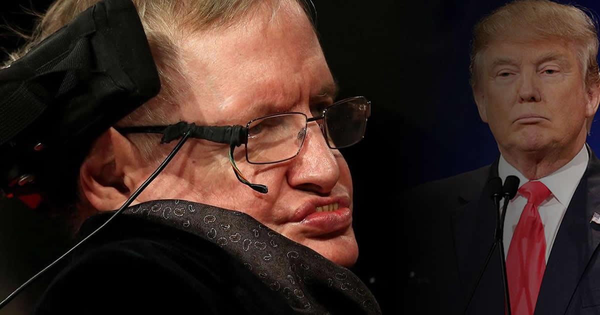 Stephen Hawking a Donald Trump: «No puedes ignorar el cambio climático»