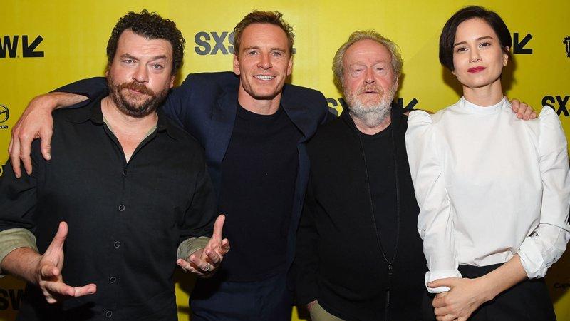 Ridley Scott (tercero desde la izquierda) con algunos de los actores de «Alien: Covenant» en la SXSW Conference en Texas.