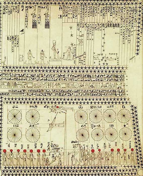 Imágenes de la tumba de Senenmut relacionadas con la astronomía.