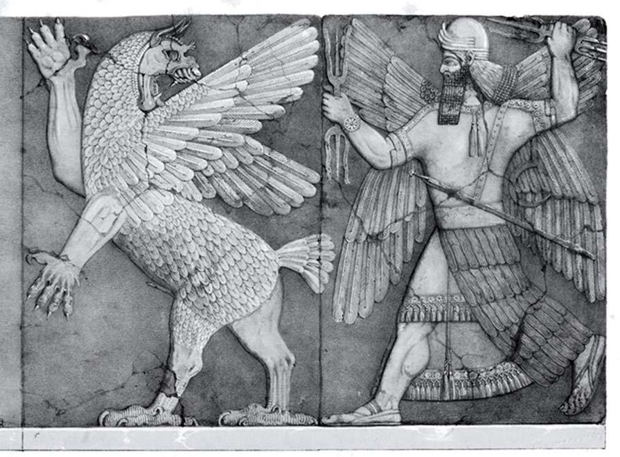 Monstruo sumerio del Caos y dios del sol sumerio