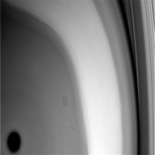Polo norte de Saturno.