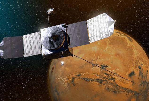 La nave espacial Mars Atmosphere and Volatile Evolution (MAVEN) de la NASA está proporcionando información sobre la atmósfera marciana actual; sin embargo no podrá contribuir con condiciones pasadas relacionadas con la actividad volcánica.