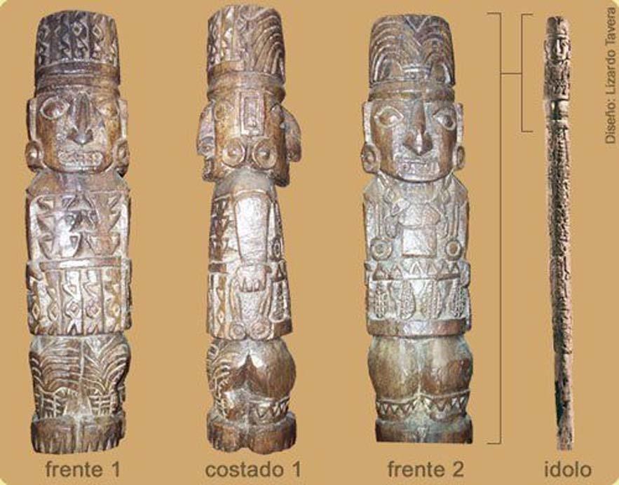 Estatua de Pachacámac.
