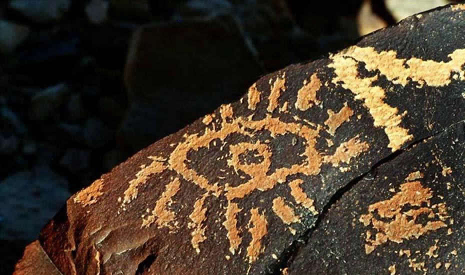 Petroglifo del «Ojo de Dios» hallado en el desierto del Negev
