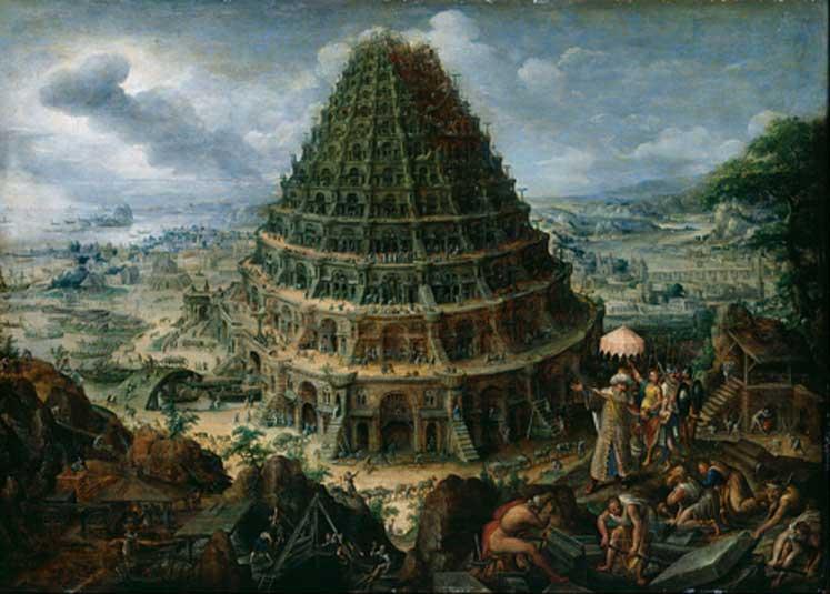 La Torre de Babel, óleo de Marten van Valckenborch el Viejo