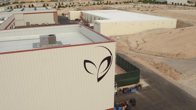 Logotipo «extraterrestre» de Bigelow Aerospace.