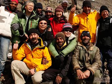 El equipo de exploradores en busca del Arca de Noé.