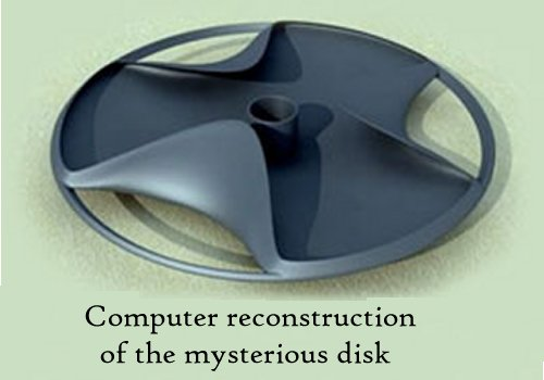 Reconstrucción por computadora del misterioso disco.