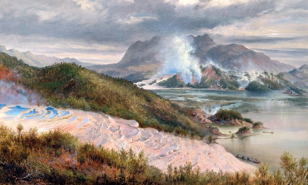 Pink and White Terraces (1886) por Charles Blomfield.