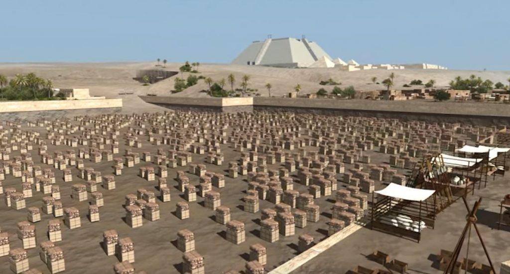 ¿Es así como se construyeron las pirámides?