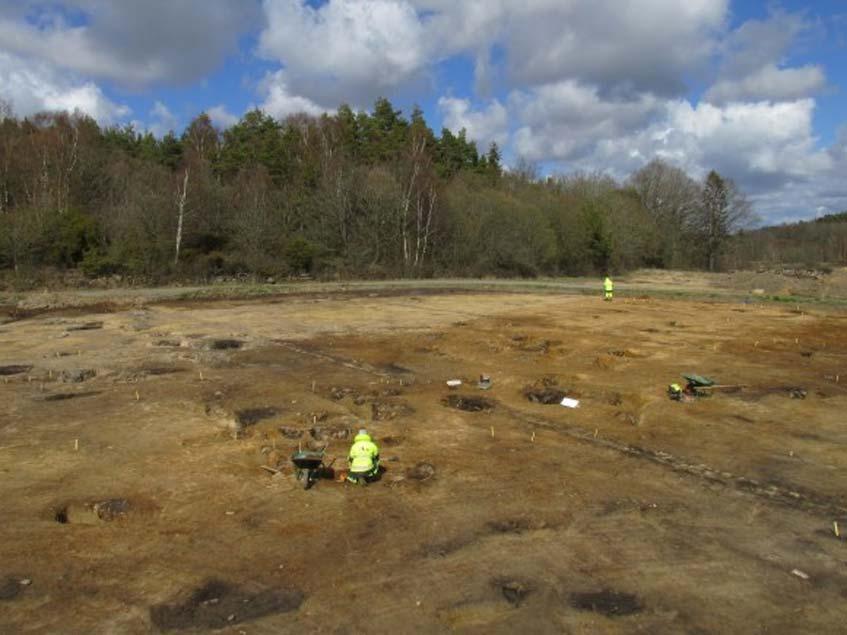 Se han descubierto 82 fosos de la Edad de Bronce en Sunnsvära (Suecia)