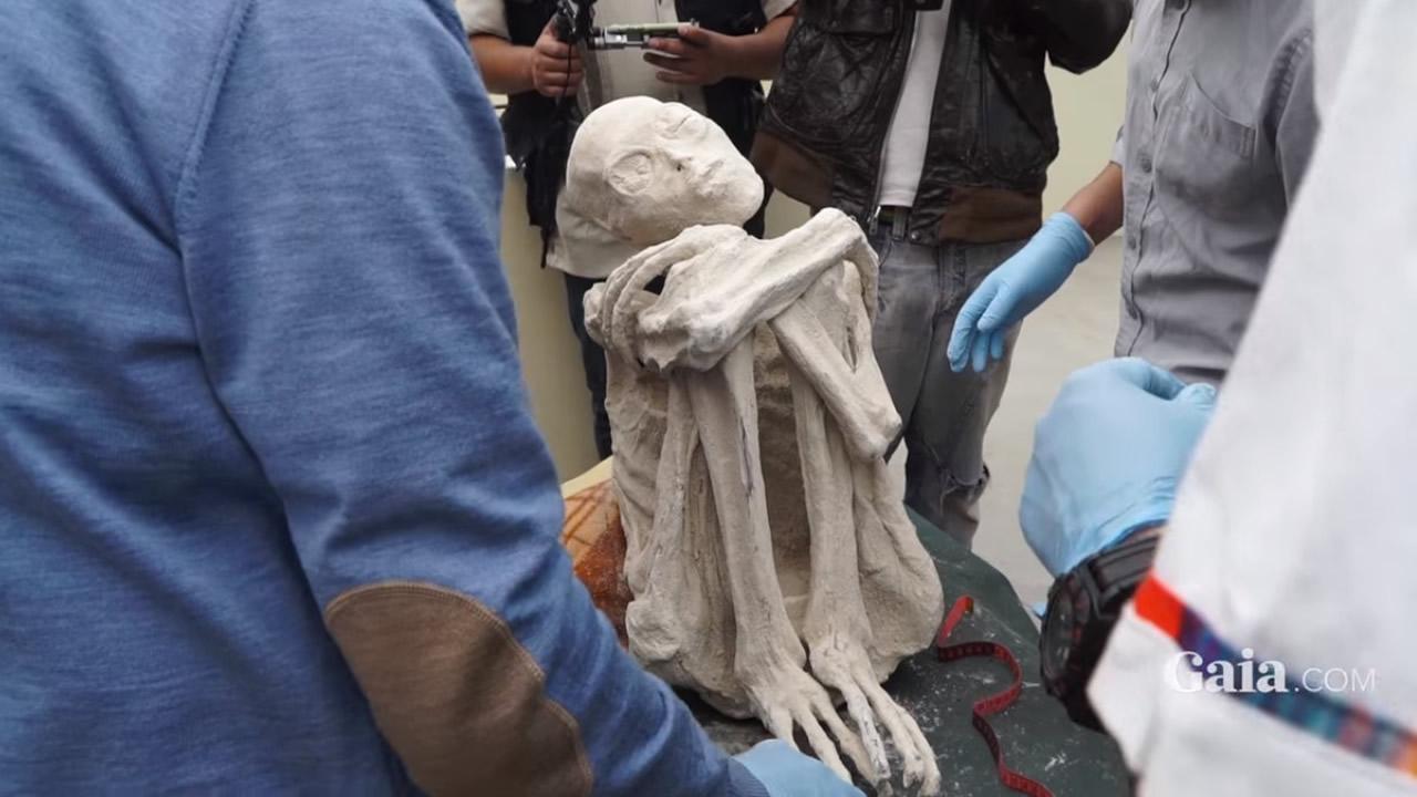 Momia descubierta en Perú es presentada como la «Gran Evidencia Extraterrestre» (Vídeo)