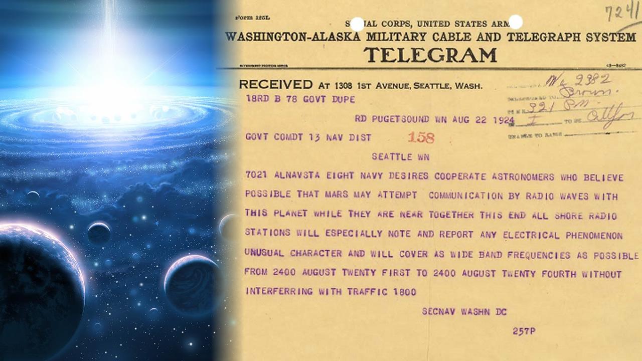 En el año 1924 la Armada de EE.UU. mandó a escuchar radioemisiones extraterrestres