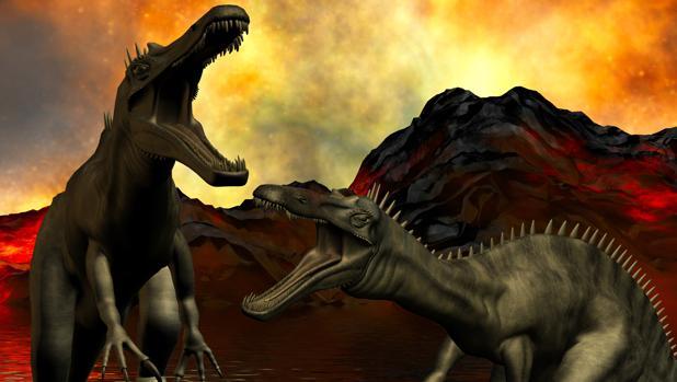 os dinosaurios ocuparon el lugar de otras especies desaparecidas tras la hecatombe volcánica