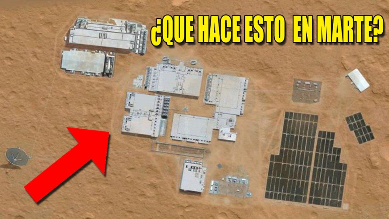 ¿Qué hace esto en Marte? Instalaciones Marcianas expuestas