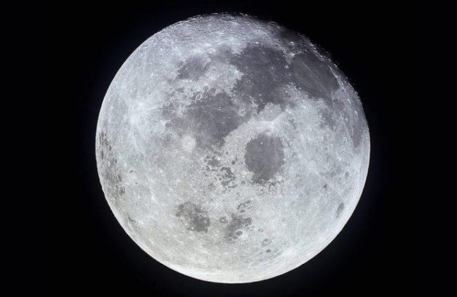 Luna llena fotografiada por la misión Apolo 11