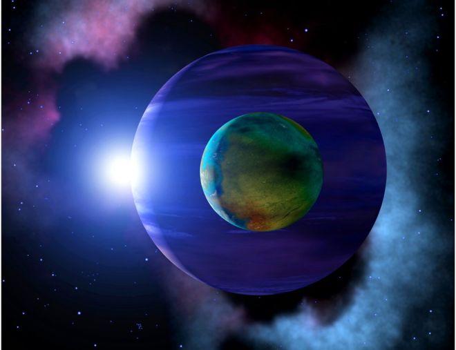 Impresión artística: Donde hayan exoplanetas probablemente hayan exolunas
