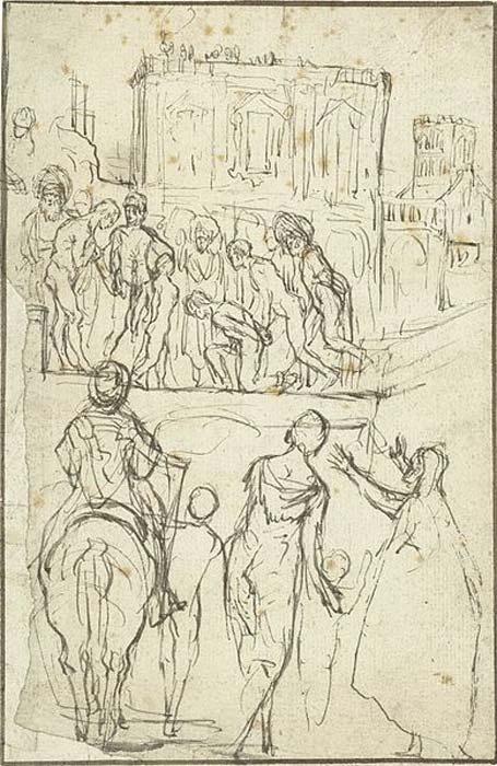 Josefo es conducido por Nicanor ante el emperador Vespasiano