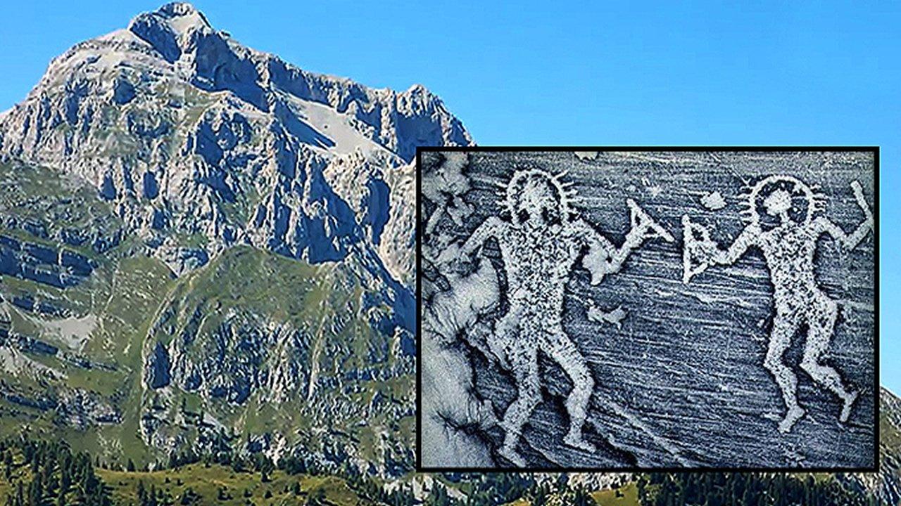 Pinturas rupestres descubiertas en Italia sugieren una presencia extraterrestre en la antigüedad