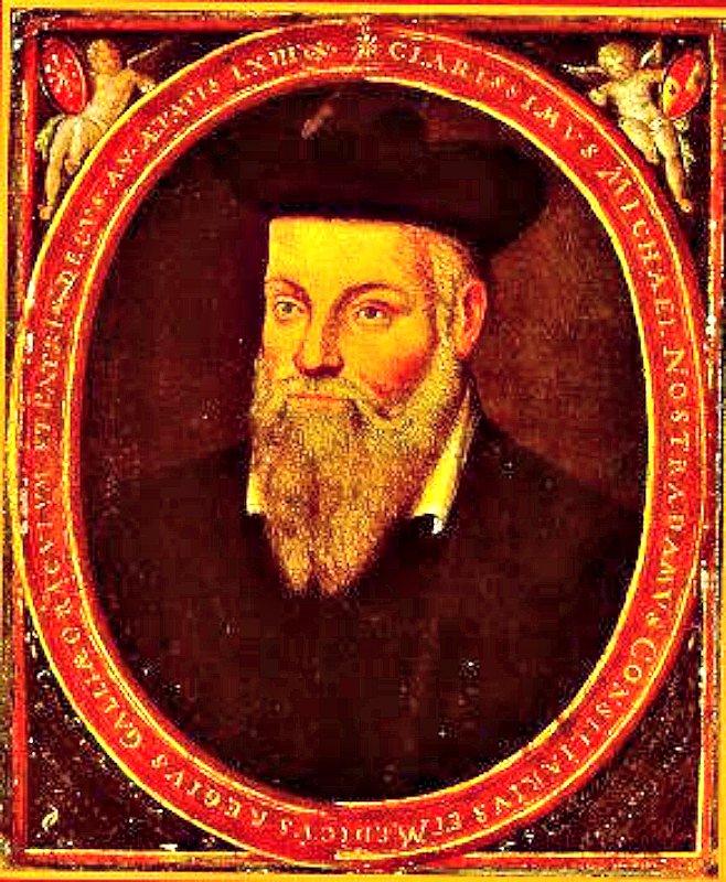 Retrato original de Michel de Nôtre-Dame (1503- 1566), pintado aproximadamente en 1614 por su hijo César.