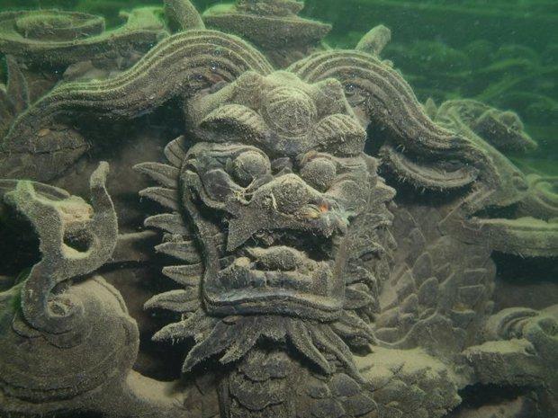 Ciudad SHI Cheng sumergida en 1959 bajo las aguas