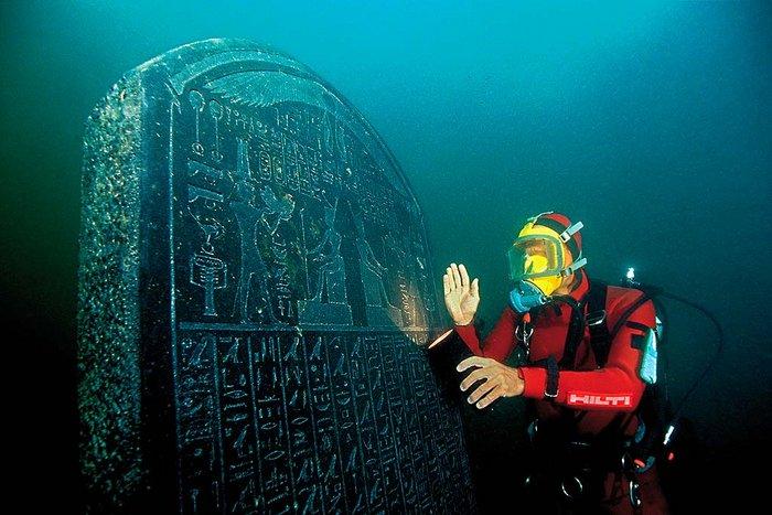 Objeto de Tonis Heracleion, ciudad sumergida en la desembocadura del río Nilo. Egipto. (Universidad de Oxford)
