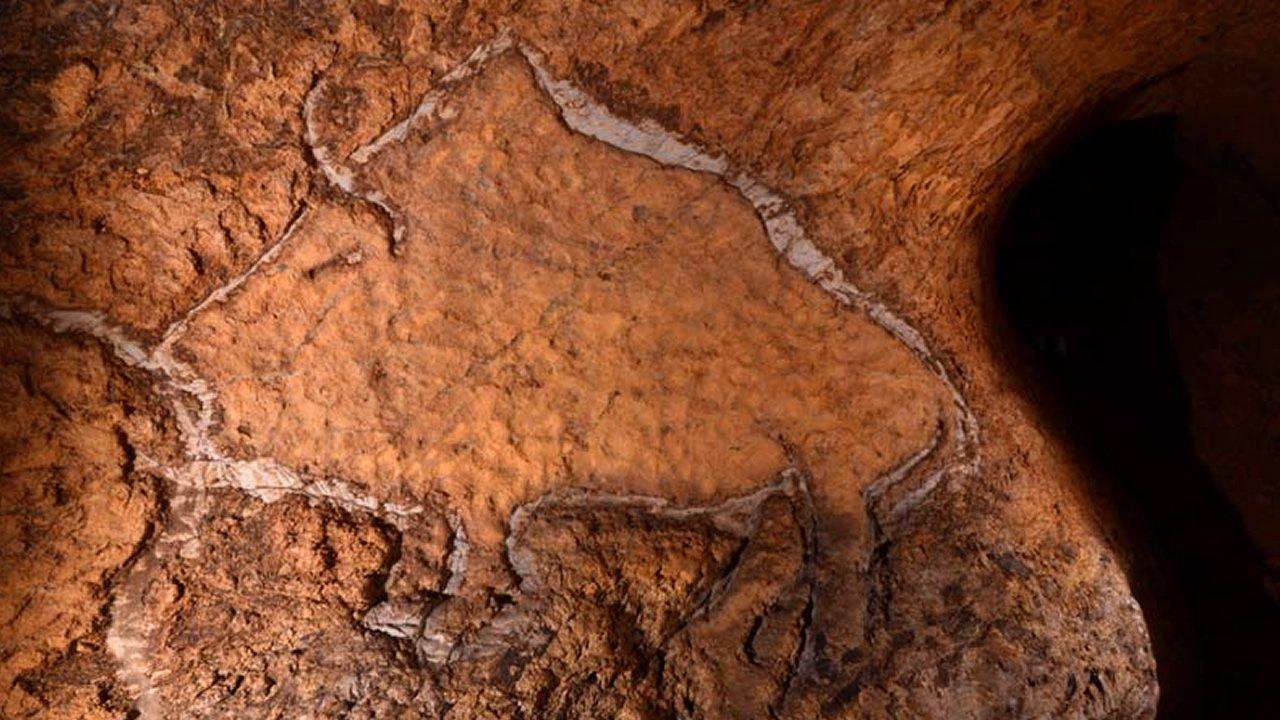 Descubren Pinturas rupestres del Paleolítico en cueva de Gipuzkoa en España