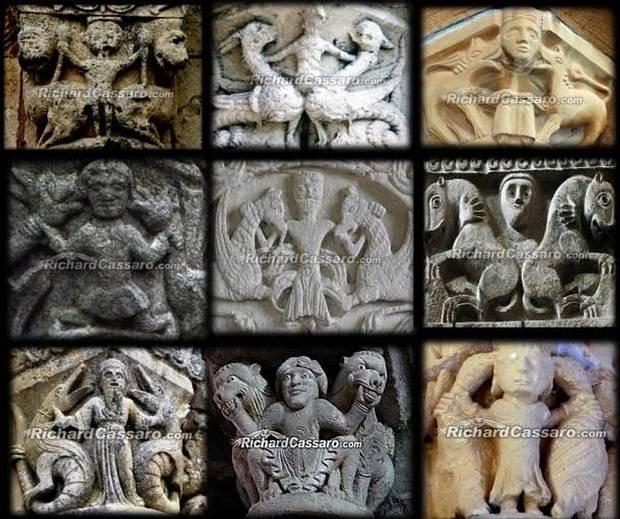 Iconos del Dios Mismo en diferentes catedrales.