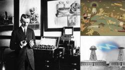 Este maestro de la mecánica, la electricidad, las matemáticas y el diseño nacido en 1856 en Smiljan (actual Croacia) llegó a registrar más de 700 patentes, muchas de las cuales son auténticos prodigios que han resultado determinantes para el progreso tecnológico: inventó el control remoto, realizó estudios sobre los rayos X y sus aplicaciones en medicina, creó las primeras lámparas de bajo consumo, sentó los principios teóricos del radar, realizó innovadores diseños de velocímetros para automóviles. El genio de la física Nikola Tesla (1856-1943) destacó con especiales argumentos que «la transmisión sin cables de energía eléctrica a cualquier distancia» era la fuente de poder más eficiente y más económica para proporcionar «comida, paz y trabajo» en la humanidad. El eminente científico de origen serbio, definió esta energía libre junto a otras dos maneras de usar la potencia vital del Sol: el fuego por la quema de la energía almacenada en la madera o carbón (combustibles), y «la utilización eficiente de la energía del medio ambiente (rayos solares, eólica, ondas el mar)». «Por la mañana, cuando nos levantamos, no podemos dejar de notar que todos los objetos que nos rodean son fabricados por maquinarias», escribió en el documento titulado: «El problema de incrementar la energía humana», publicado en junio de 1900. De aquí se desprenden sus célebres palabras en honor al Sol: «¿De dónde viene todo el poder motriz? Vemos el océano subir y bajar, los ríos fluyen, el viento, la lluvia, el granizo y la nieve golpean en nuestras ventanas, los trenes y vapores van y vienen…y todo este movimiento, desde el surgimiento del poderoso océano hasta ese movimiento sutil de nuestro pensamiento, no tiene más que una causa común. Toda esta energía emana de un solo centro, una sola fuente, el Sol. El sol es la primavera que impulsa a todos. El sol mantiene toda la vida humana y suministra toda la energía humana». Tesla proyectó entonces usar esta energía de la naturaleza proporcionada p