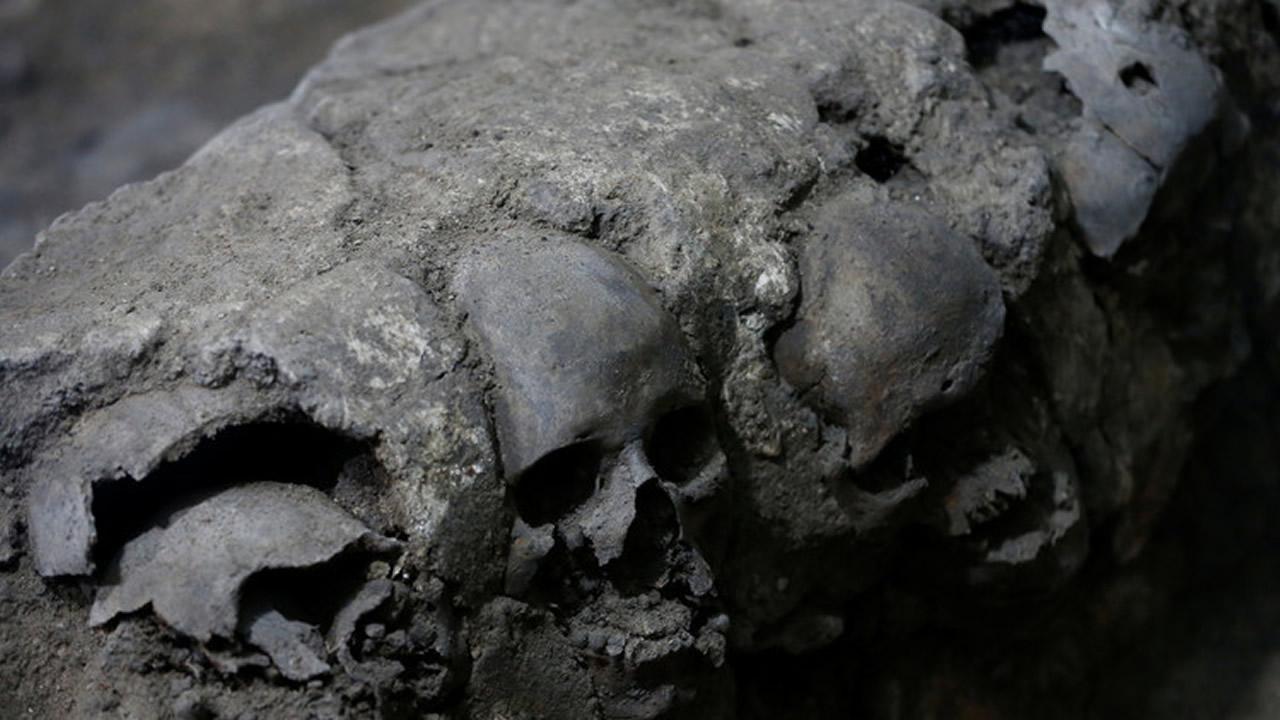 Torre de cráneos humanos descubierta en México reescribe la Historia del Imperio Azteca