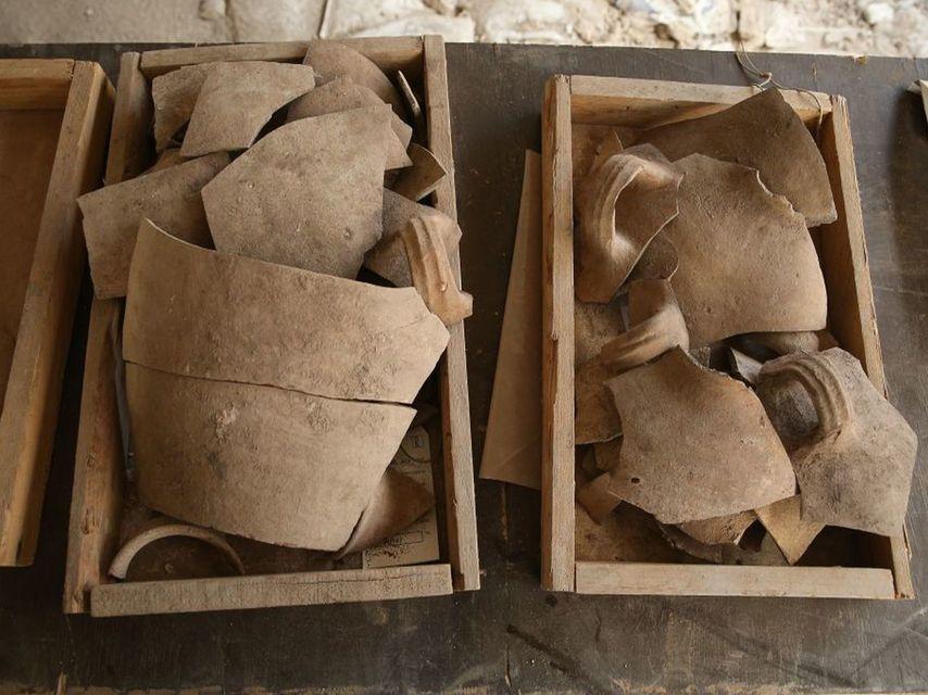 Jarras destrozadas, que atestiguan la Primera destrucción de la era del Templo en la Ciudad de David