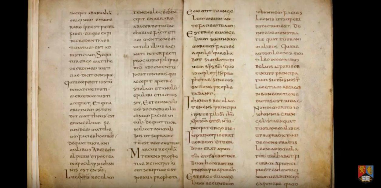 Primera interpretación en Latín de los Evangelios.