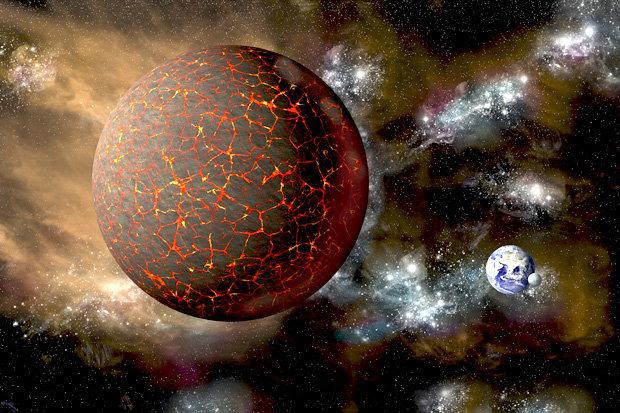 Impresión artística del planeta Nibiru