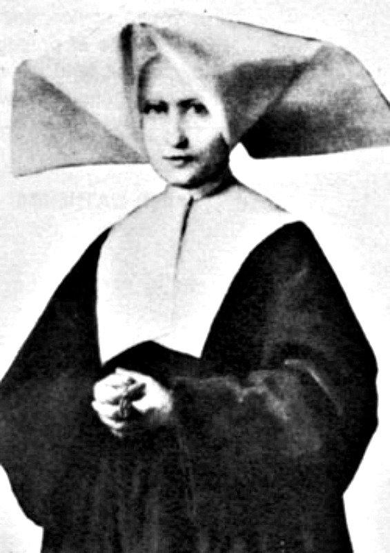 Fotografía real de la santa tomada en torno al año 1850.