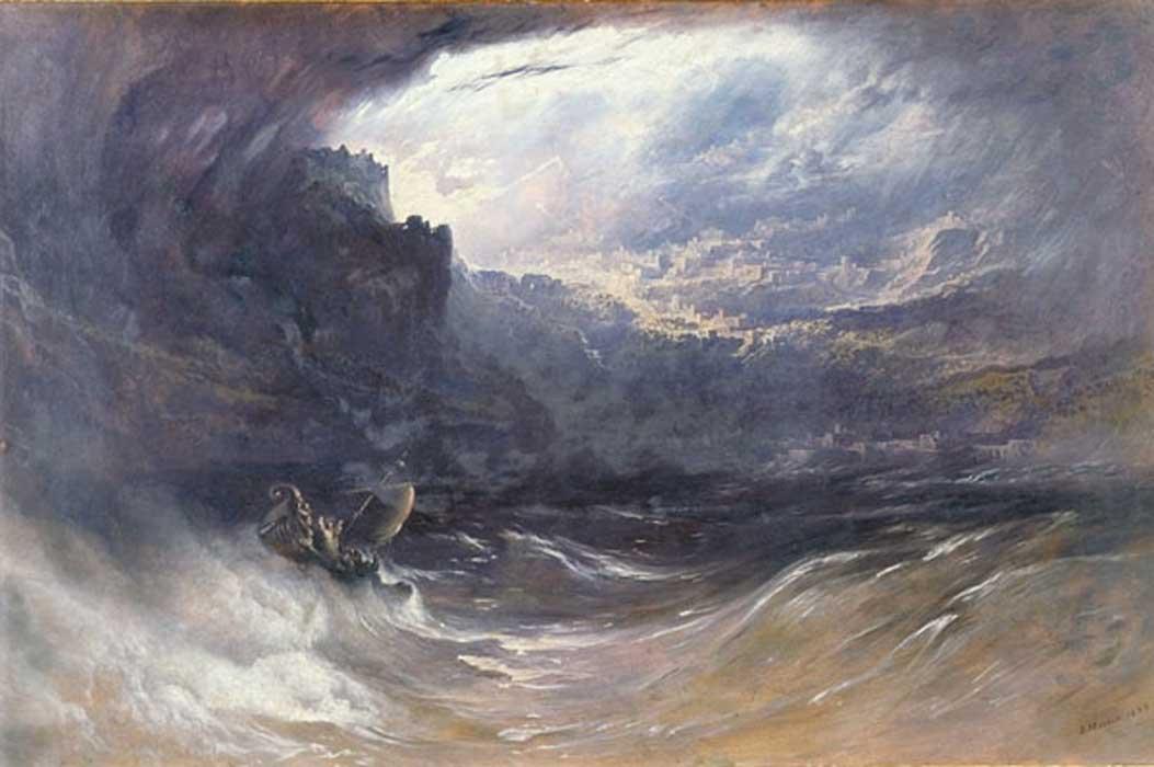 «El Diluvio» (1834), óleo de John Martin.