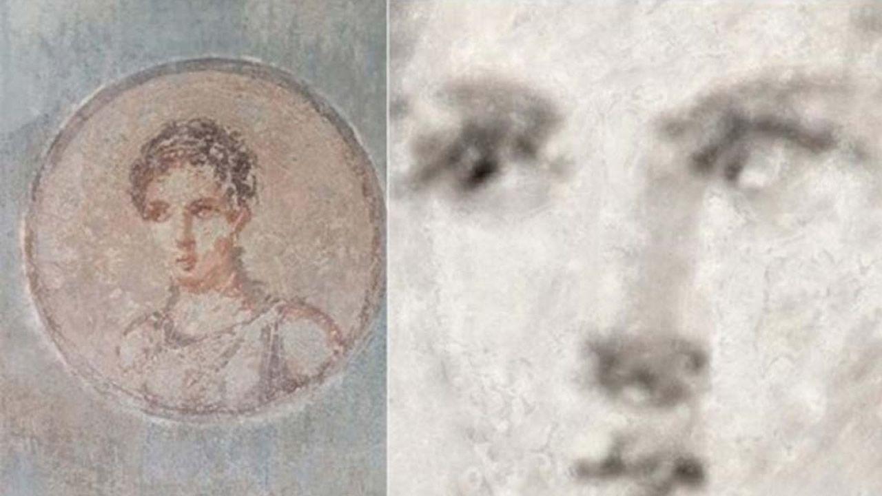 Rayos X revelan retrato de una mujer romana oculto bajo las cenizas volcánicas del Vesubio