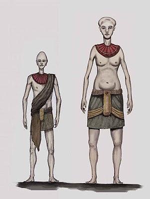 Posible aspecto de los antiguos pobladores de Marte reportados por los «visores remotos»