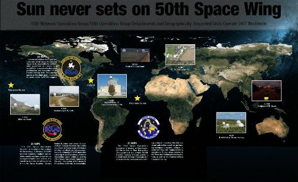 La USAF ya tiene un Comando Espacial y Ala Espacial. Este gráfico detalla sus ubicaciones. Click para agrandar.