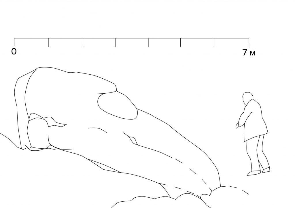 Boceto del supuesto «dragón»