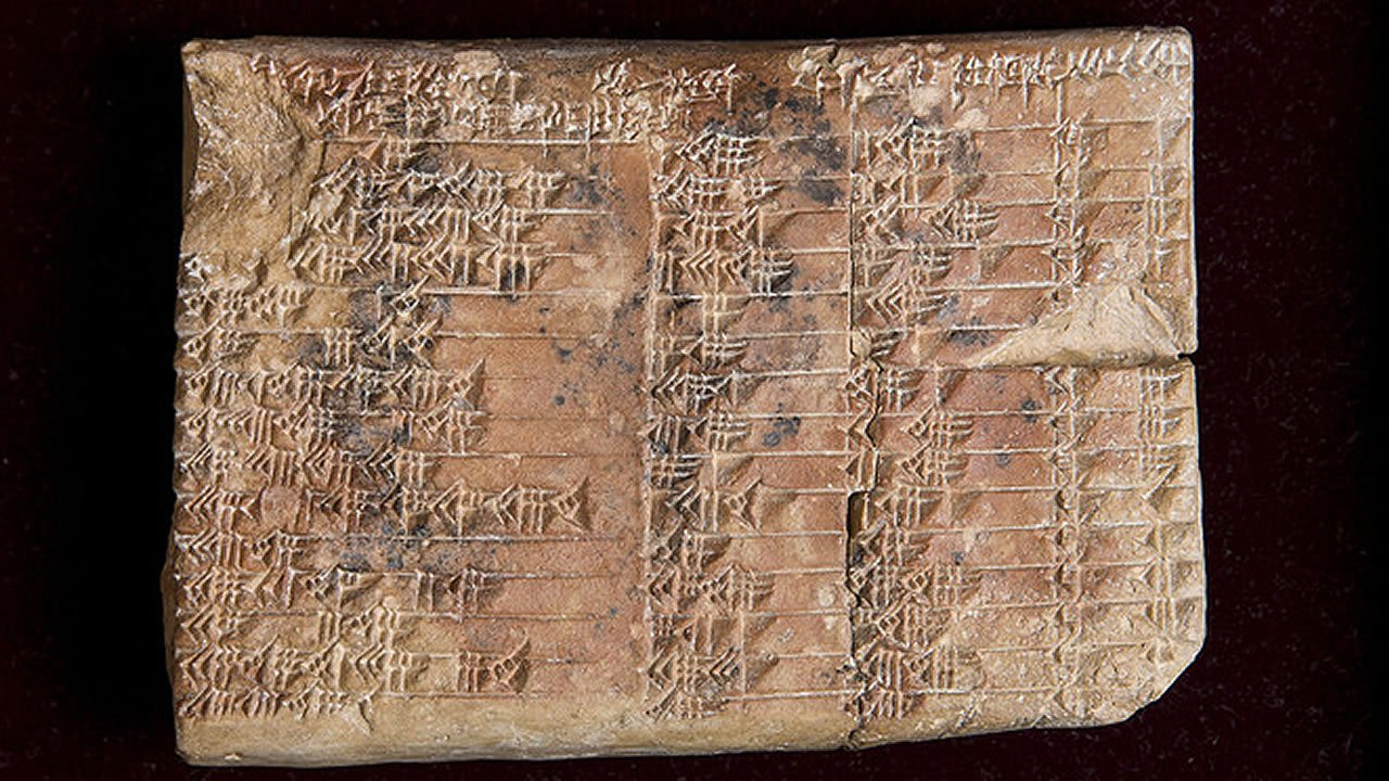 Esta tablilla babilónica esconde la tabla trigonométrica más antigua del mundo